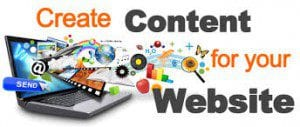 create content for your website