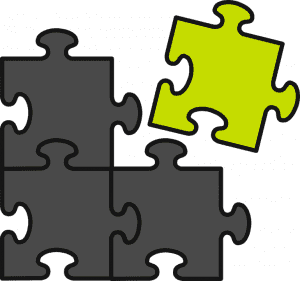 internet business is like a jig-saw puzzle must put the pieces together