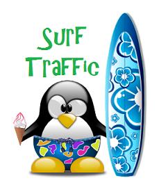 surfing online for traffic