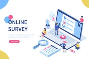 taking online surveys