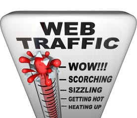 getting web traffic to my website