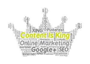 creating content for your website is king
