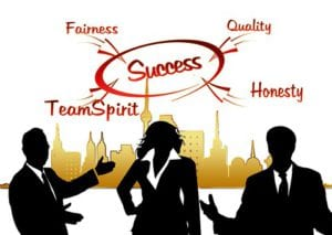 For success to take place as far as consistency is concern, you must have fairness, Quality, honesty and team Spirit.