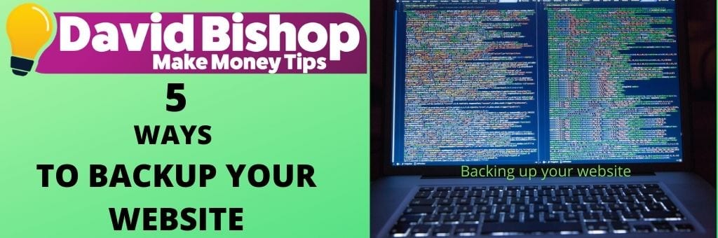5 Ways To BackUp Your Website