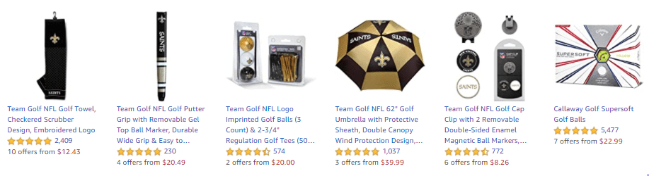 products sold on Amazon