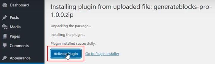How To Install GenerateBlocks On Your Website - The pro plugin