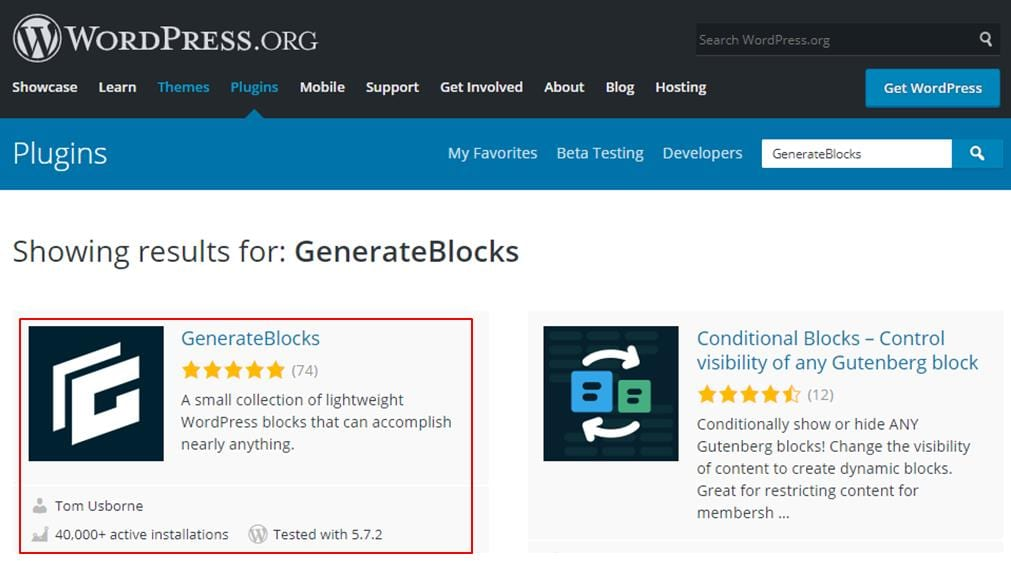 How To Install GenerateBlocks On Your Website - WordPress plugin