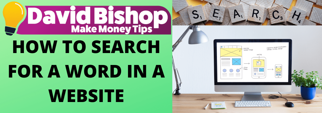 HOW TO SEARCH FOR A WORD IN A WEBSITE