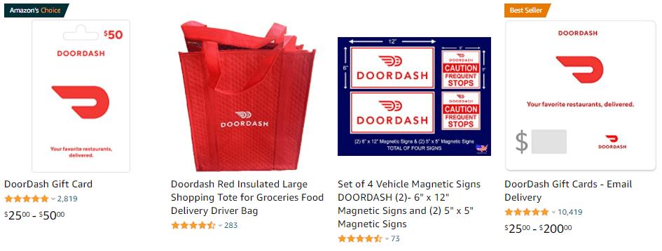 Dooordash products