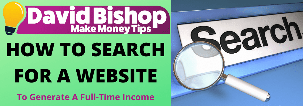 HOW TO SEARCH FOR A WEBSITE